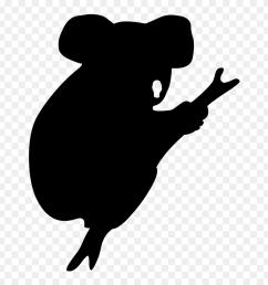koala american black bear silhouette drawing koala silhouette clipart [ 880 x 960 Pixel ]