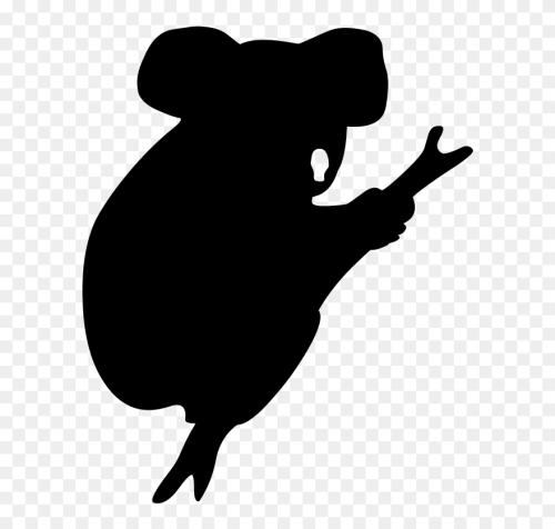 small resolution of koala american black bear silhouette drawing koala silhouette clipart