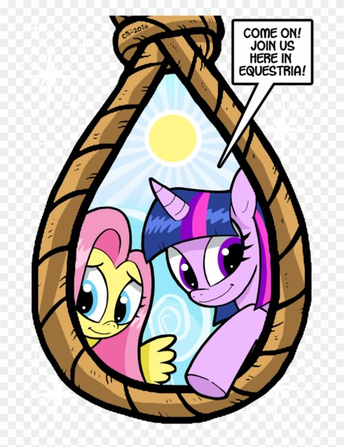 small resolution of fb chris insists he isn t delusional my little pony noose clipart