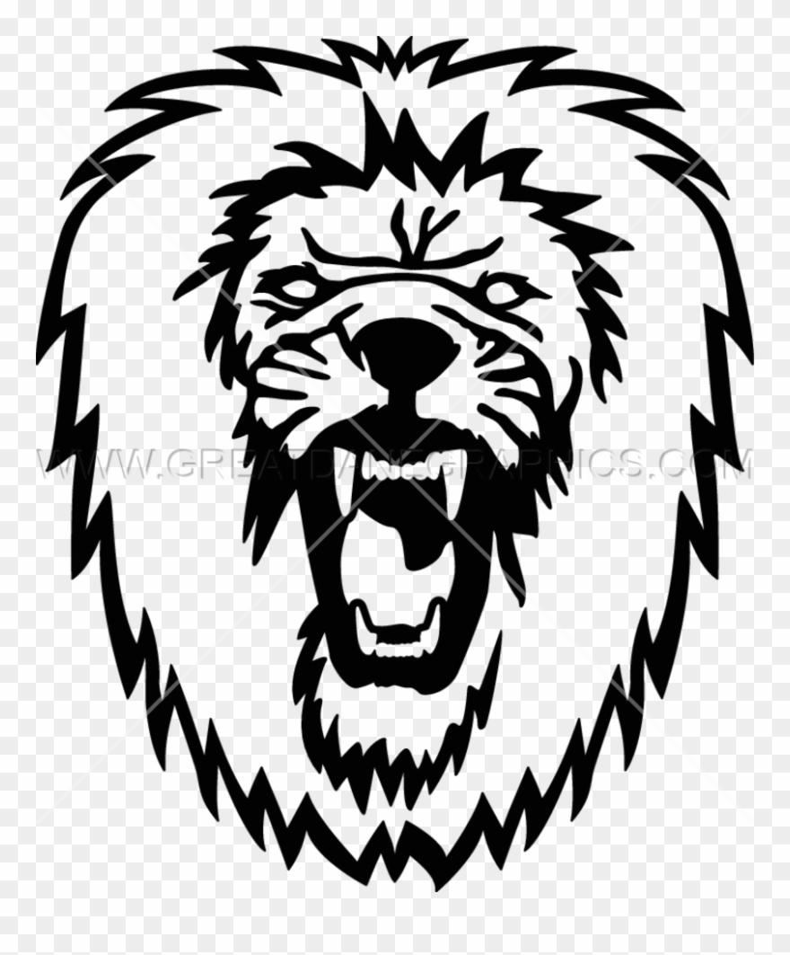 hight resolution of roaring lion illustration clipart