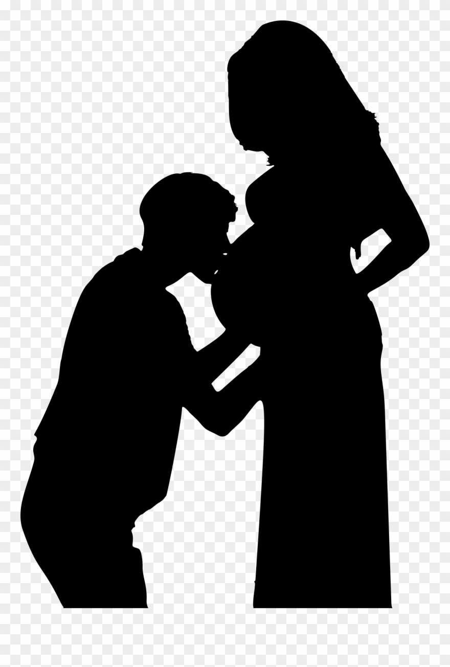 hight resolution of pregnancy wife kiss woman pregnant couple silhouette png clipart