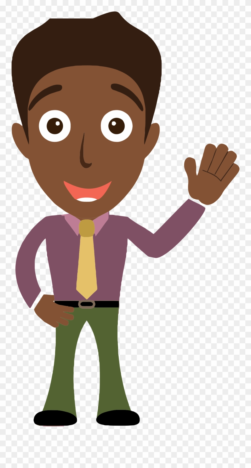hight resolution of sensational idea person clip art clipart cartoon man saying hello png download