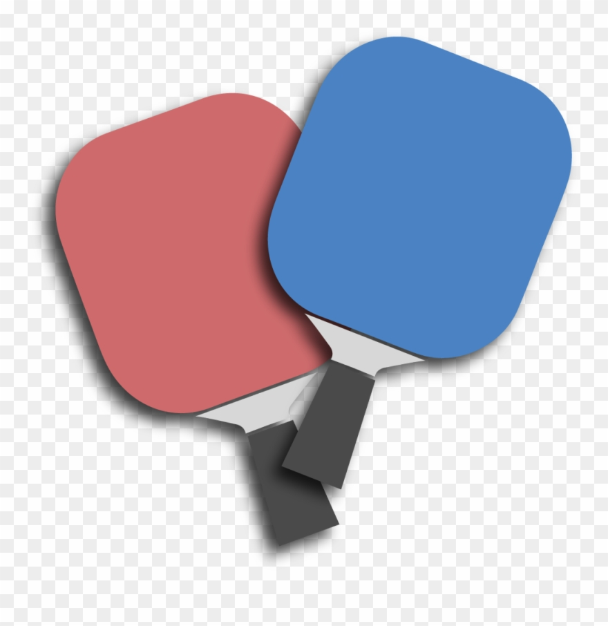hight resolution of paddles pickleball clipart