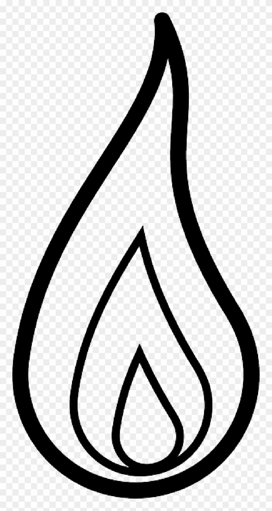 Drawn Candle Outline - Clipart Flame - Png Download