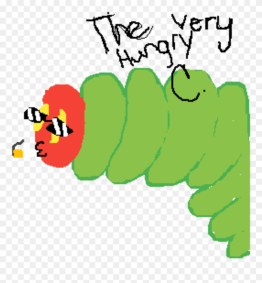 hight resolution of the very hungry caterpillar clipart