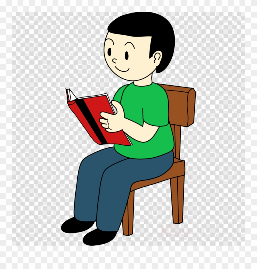 hight resolution of boy sitting on chair clipart sitting clip art sat on a chair png download