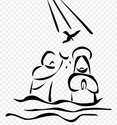 baptism of jesus drawing clipart [ 880 x 1104 Pixel ]