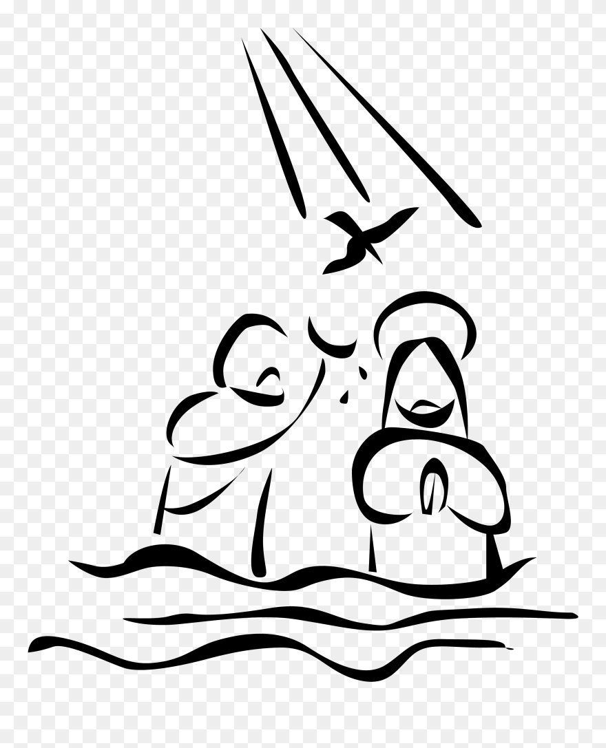 hight resolution of baptism of jesus drawing clipart