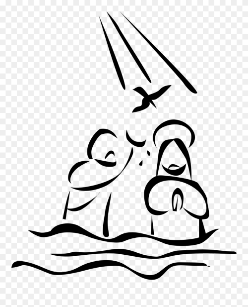small resolution of baptism of jesus drawing clipart