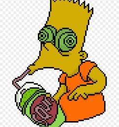 pixel clipart grunge bart simpson png transparent png [ 880 x 1091 Pixel ]