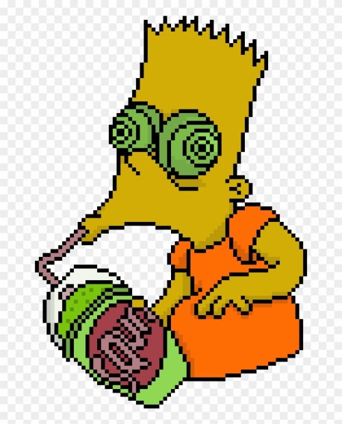 small resolution of pixel clipart grunge bart simpson png transparent png
