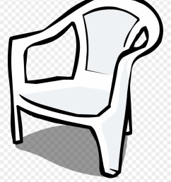 furniture clipart almira plastic chair clipart black and white png download [ 880 x 1088 Pixel ]