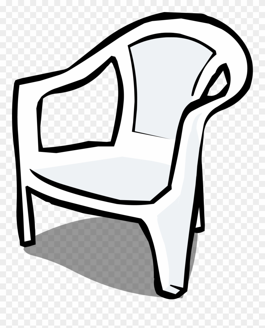 hight resolution of furniture clipart almira plastic chair clipart black and white png download