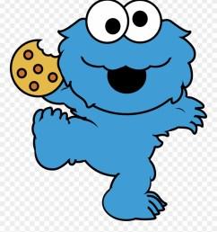 eating cookies cliparts cute cookie monster cartoon png download [ 880 x 1030 Pixel ]