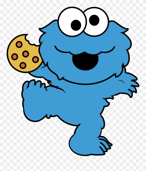 small resolution of eating cookies cliparts cute cookie monster cartoon png download