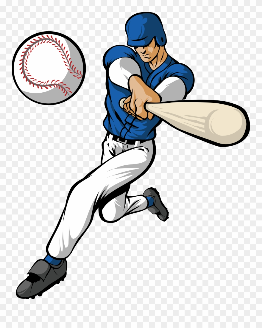 hight resolution of hitting a baseball clipart amp hitting a baseball clip baseball player clipart png download