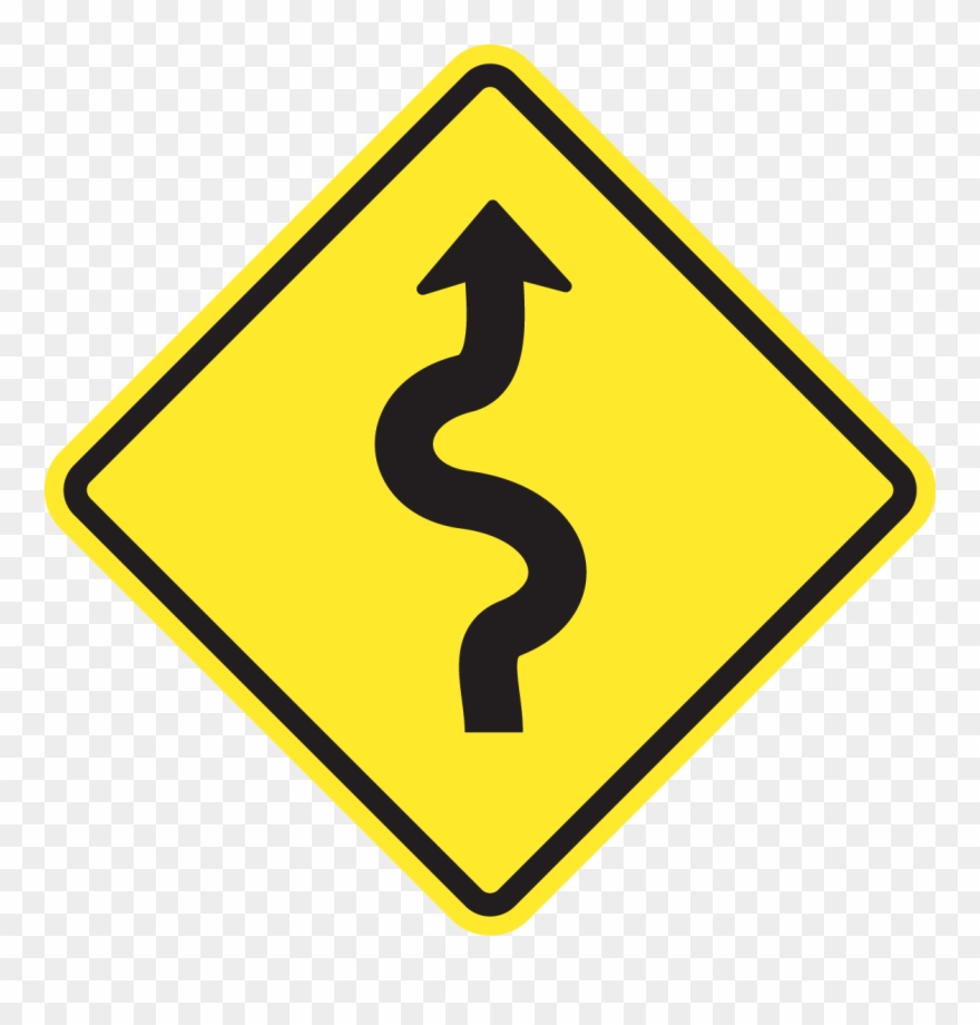 hight resolution of show answer winding road sign png clipart