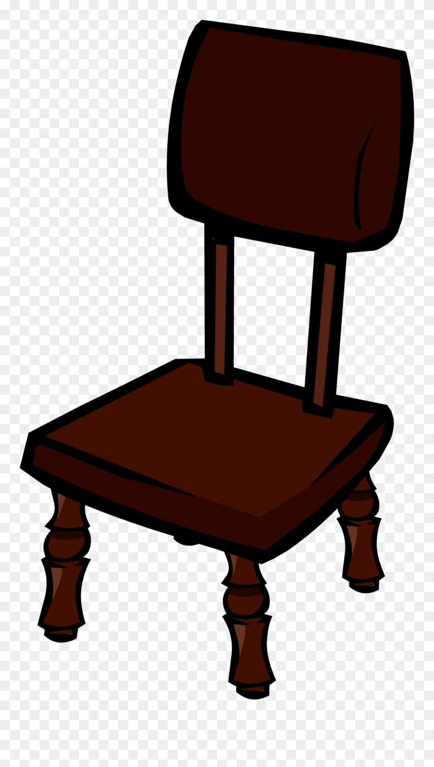 medium resolution of clipart table wooden table club penguin chair furniture png download