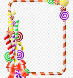 sweet border clipart candy cane clip art candy crush photo frame png download [ 880 x 1105 Pixel ]
