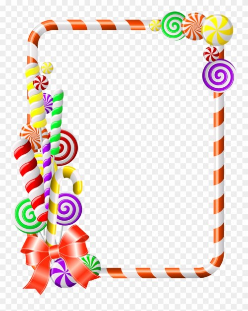 small resolution of sweet border clipart candy cane clip art candy crush photo frame png download