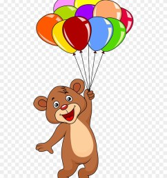 graphic free download bear with balloons clipart cute teddy bear with balloons png download [ 880 x 1104 Pixel ]