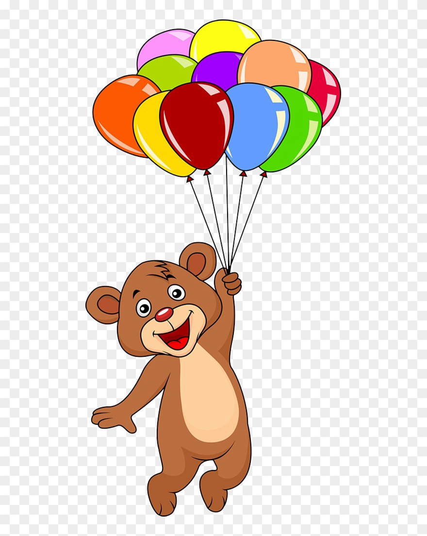hight resolution of graphic free download bear with balloons clipart cute teddy bear with balloons png download