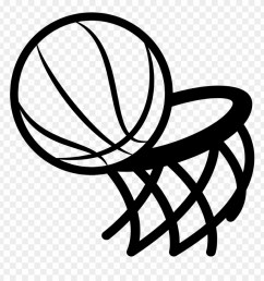 graphic freeuse basketball hoop black and white clipart black and white basketball hoop clipart  [ 880 x 920 Pixel ]