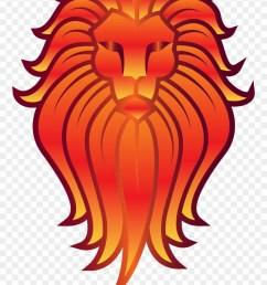 big image lion on a totem pole clipart [ 880 x 1253 Pixel ]