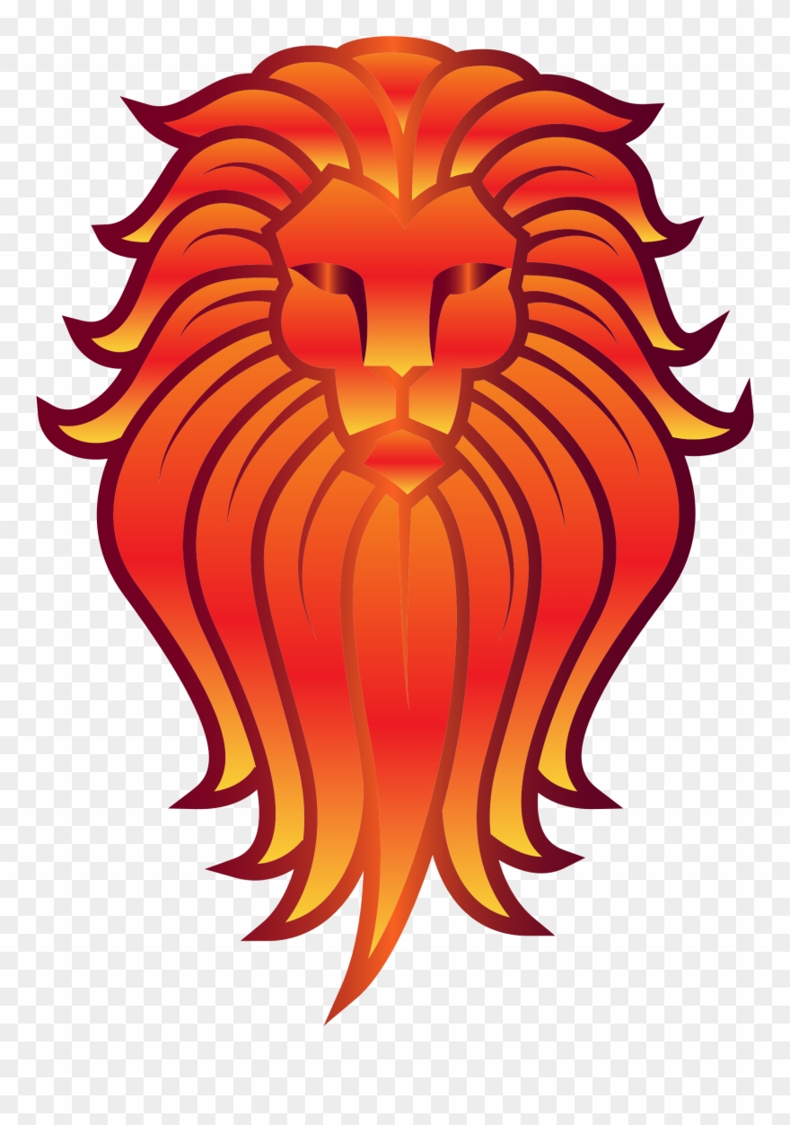 hight resolution of big image lion on a totem pole clipart