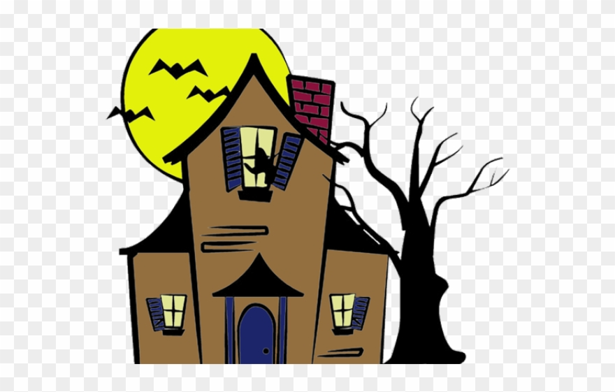 Windows Clipart Haunted House Haunted House Drawings Easy Png Download 1384502 Pinclipart