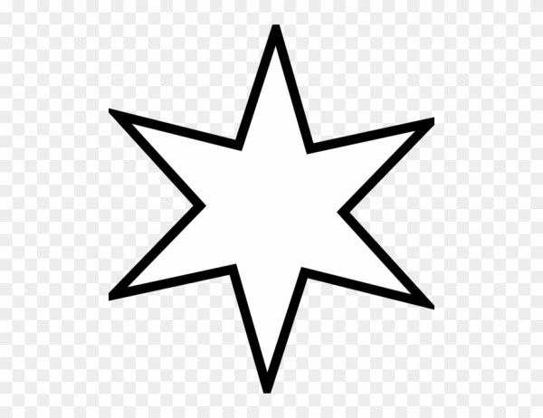 large six sided star clip art