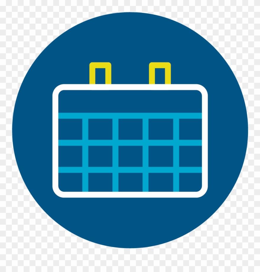 hight resolution of calendar calendar icon circle png blue clipart