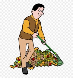 this year the autumnal equinox falls on september raking leaves clip art png [ 880 x 938 Pixel ]