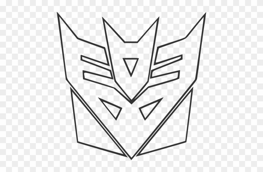 Outline Autobots And Decepticons Logos