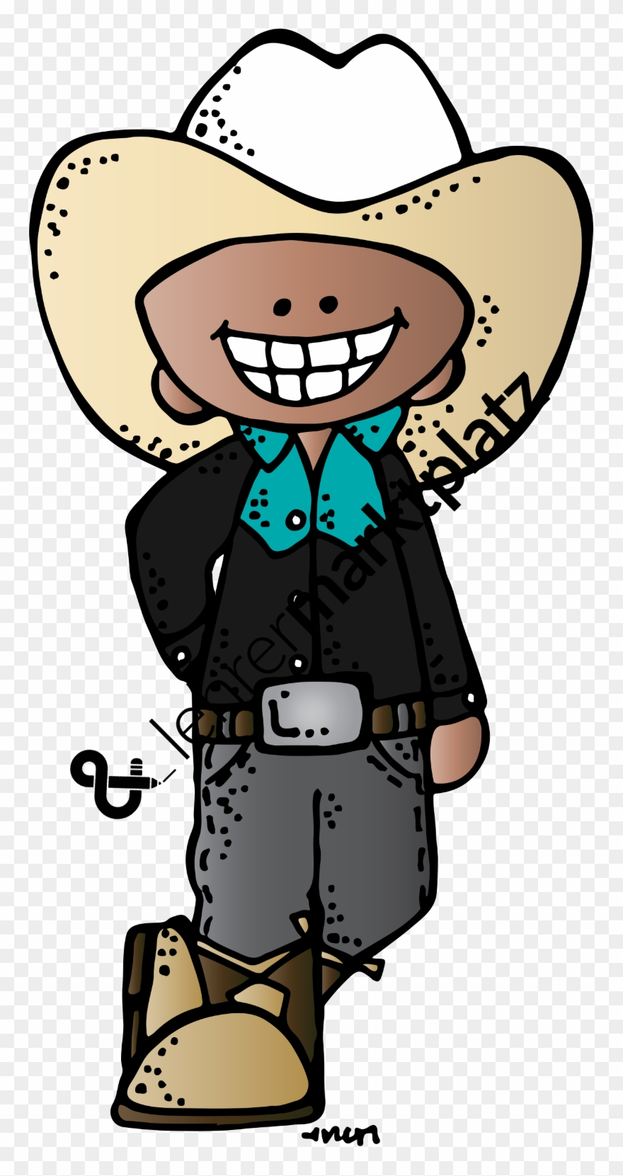 hight resolution of graphic freeuse clip art cowboys und melonheadz cowgirl png download