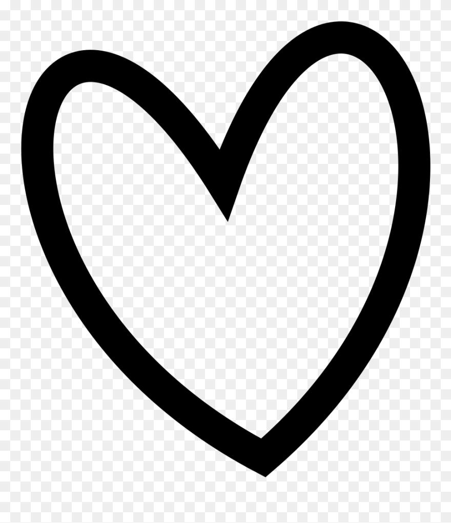 slant black heart outline