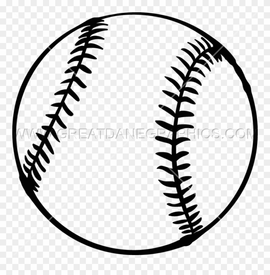 Softball Black And White Clipart Softball Baseball