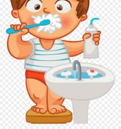 child brushing teeth clipart brush teeth hair clipart png download [ 880 x 1105 Pixel ]