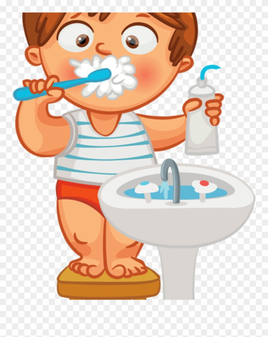 hight resolution of child brushing teeth clipart brush teeth hair clipart png download