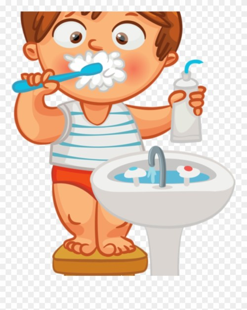 small resolution of child brushing teeth clipart brush teeth hair clipart png download