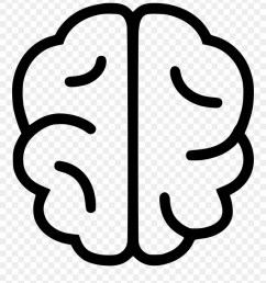 brain icons simple brain line drawing clipart [ 880 x 998 Pixel ]