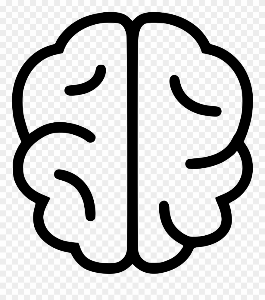 hight resolution of brain icons simple brain line drawing clipart
