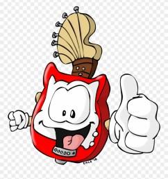 guitar mascot clipart [ 880 x 955 Pixel ]