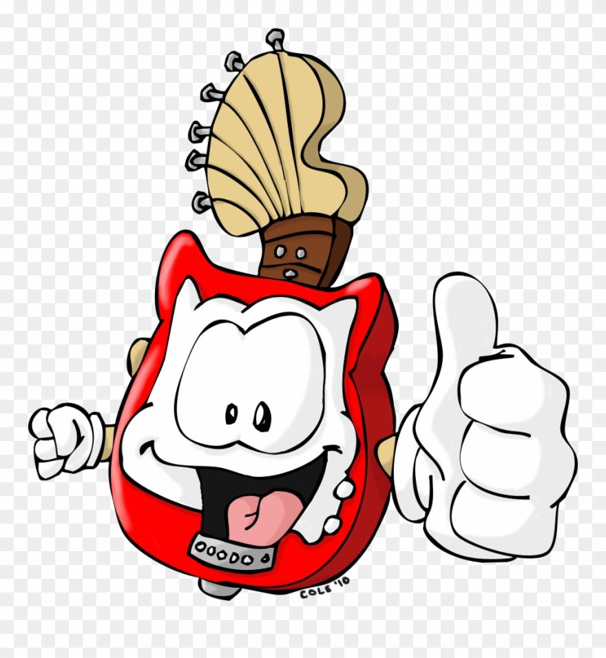 hight resolution of guitar mascot clipart