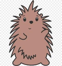 porcupine waving illustration clipart [ 880 x 1017 Pixel ]