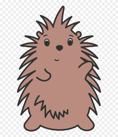 small resolution of porcupine waving illustration clipart