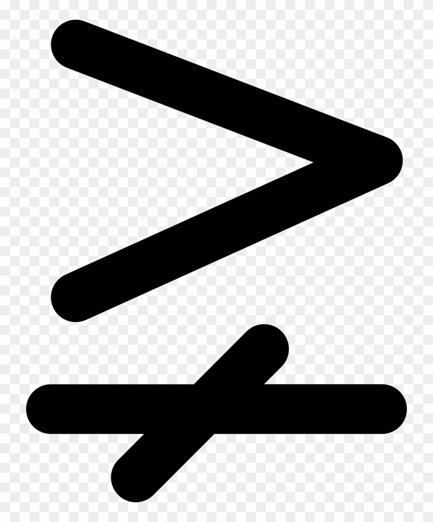 medium resolution of greater than and single line not equal to maths sign nie jest wi kszy znak clipart
