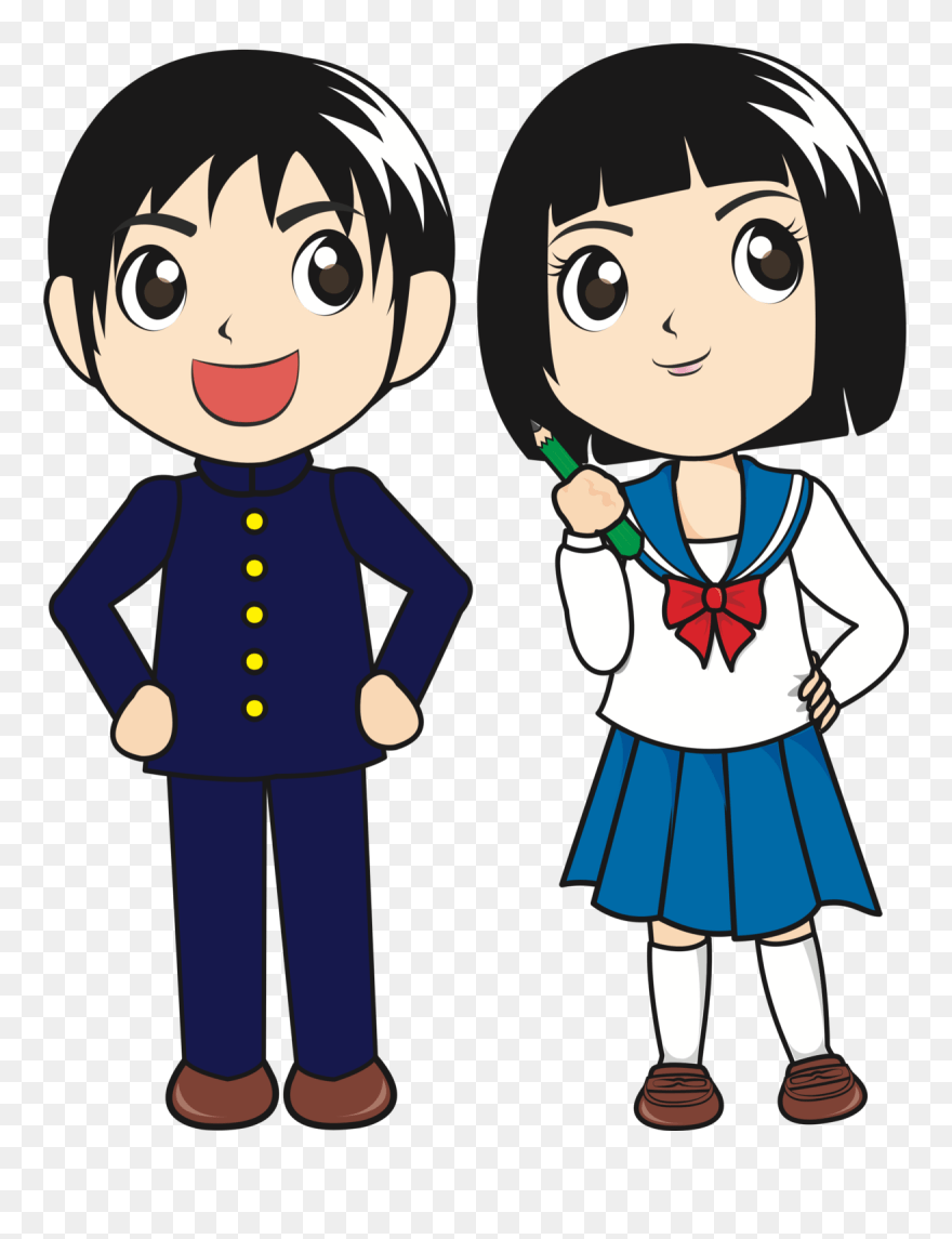 medium resolution of student download school cartoon japanese student clipart png download