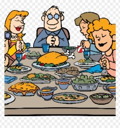 thanksgiving dinner images clip art thanksgiving pilgrim family having thanksgiving clipart png download [ 880 x 920 Pixel ]