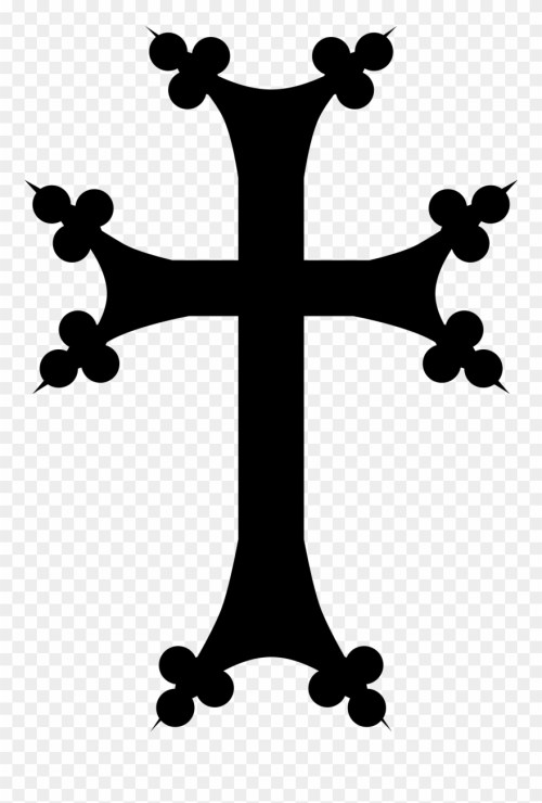 small resolution of open armenian cross png clipart